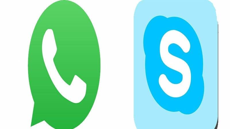 Whatsapp and skype