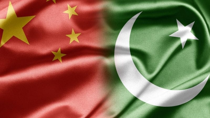 چین اور پاکستان کا جھنڈا
