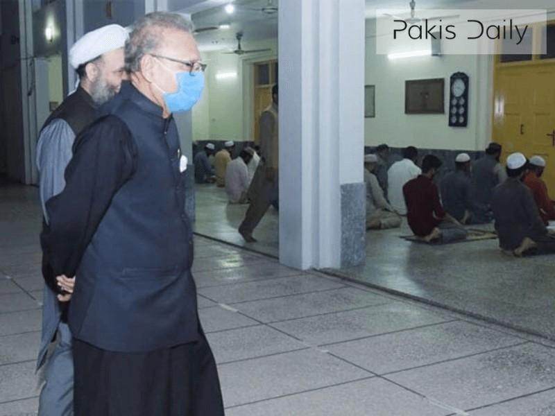 مساجد میں ایس او پیز کے نفاذ متعلق صدر مملکت کا دورہ
