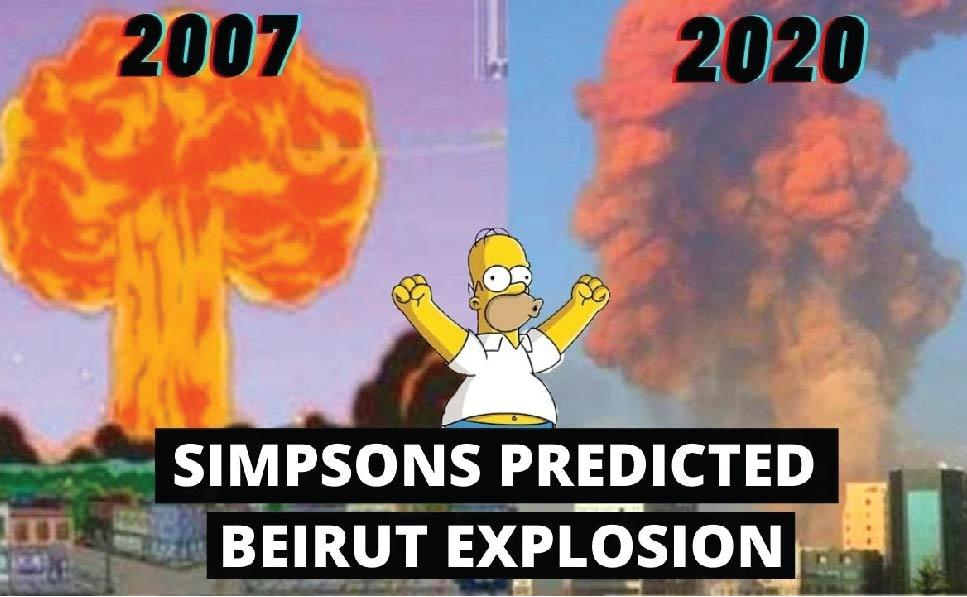 بیروت دھماکوں کی سمپسمز کارٹون میں پیشنگوئی کی وڈیو وائرل