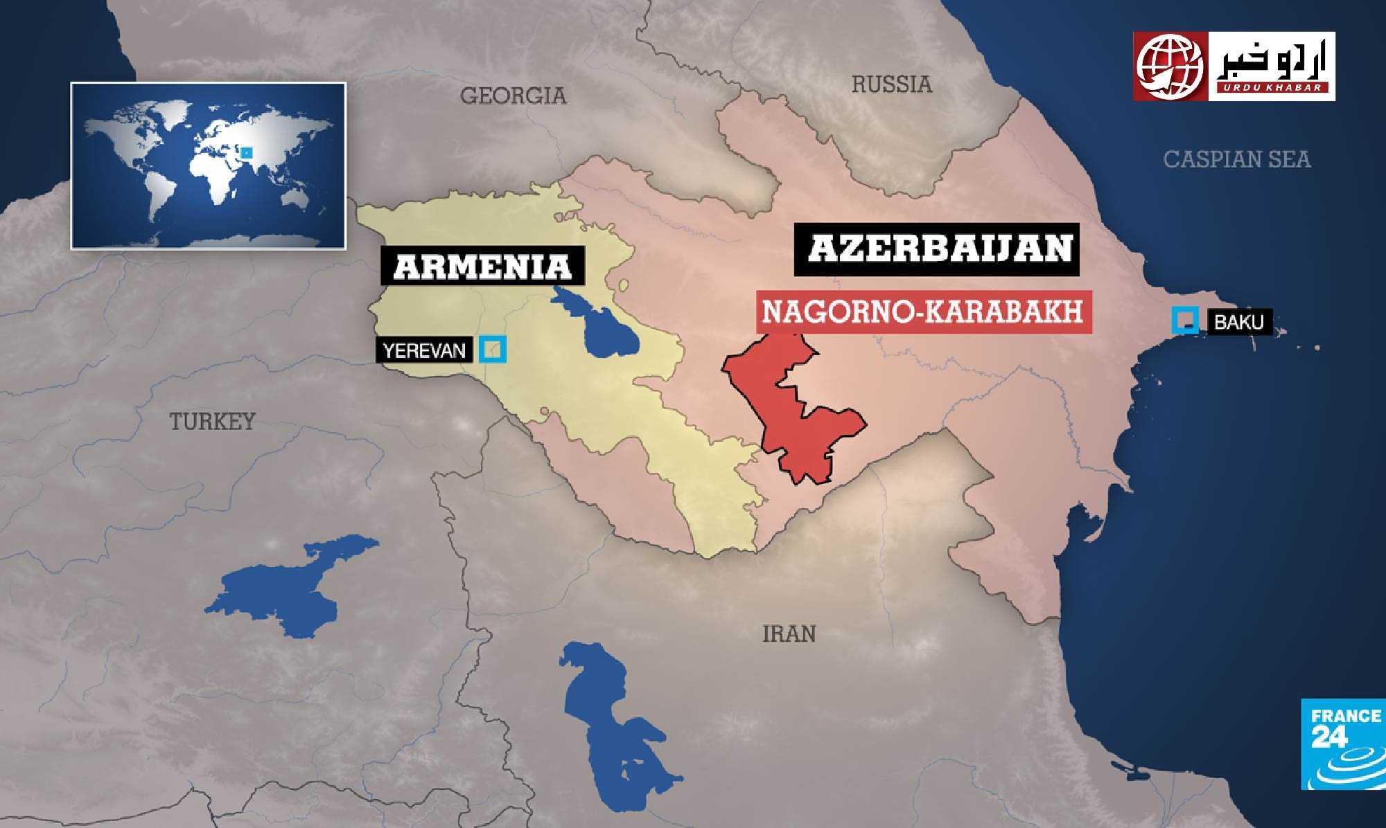 آرمینیا اور آزربائیجان جنگ بندی پر راضی ہو گئے