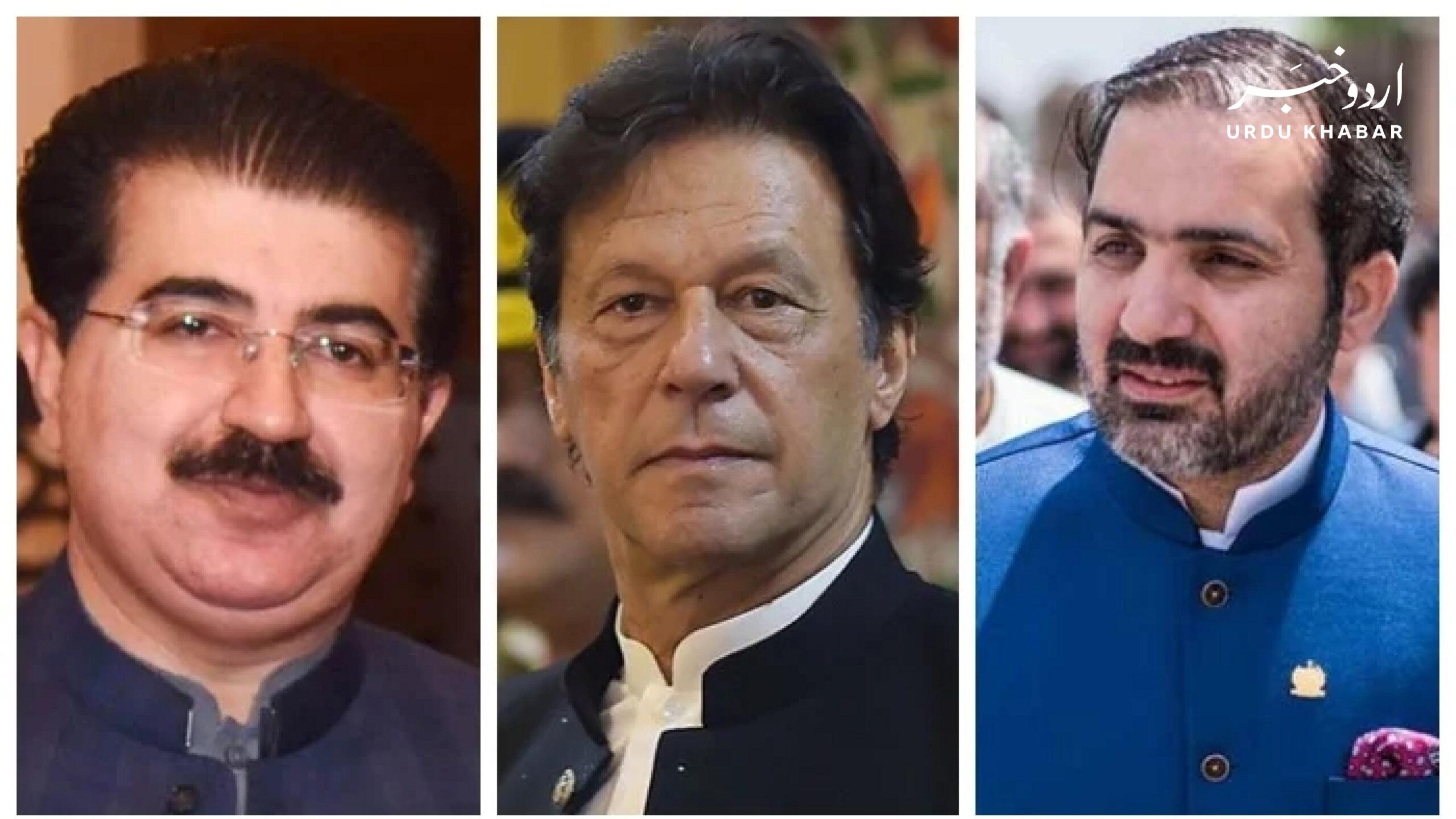 عمران خان کی نومنتخب چئیرمین سینیٹ کو مبارکباد
