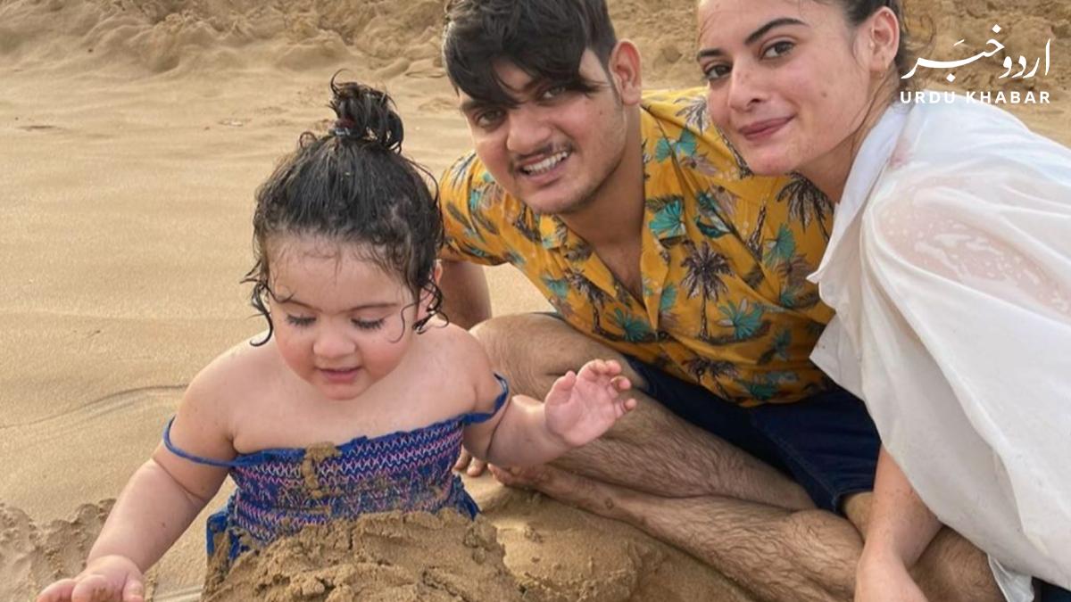 منال خان اور احسن محسن نے فرانسیسی ساحل سمندر پر خوب انجوائے کیا
