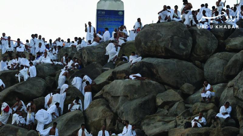 ساٹھ ہزار حجاج ادائیگی حج کے لئے میدان عرفات پہنچ گئے